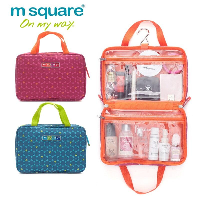 M Square Travel Organizer Bag Unisex Women Cosmetic Bag Hanging Makeup Bags Washing Toiletry Kits Storage
