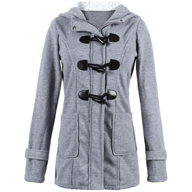 9b144e9efd29a7 Women Coat New Autumn Winter Basic Jacket XXXXL 5XL Plus Size Sweatshirt  Solid Hooded Zip Top Bomber European Style Outerwear