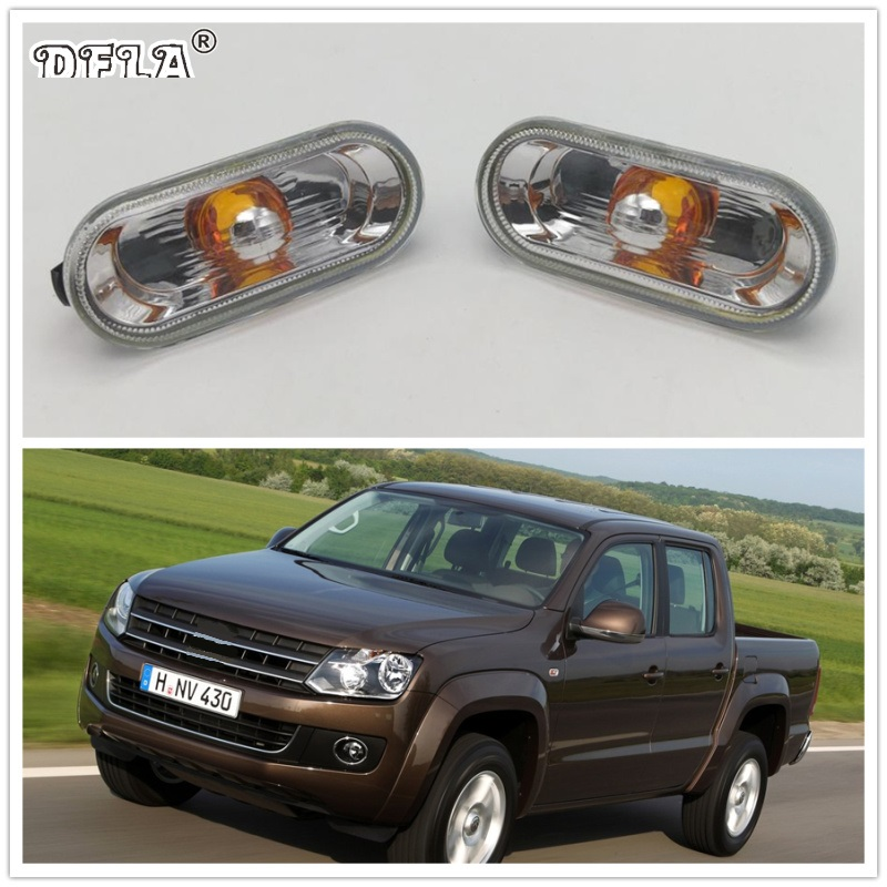 2pcs For VW Amarok 2012 2013 2014 2015 2016 2017 Car-Styling Side Marker Turn Signal Light Lamp Repeater for honda crv 2012 2013 2014 2015 2016 aluminium alloy carrier roof rack side rails bars outdoor travel luggage 2pcs car styling