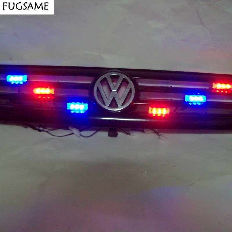FUGSAME DOPRAVA ZDARMA 6 * 3 LED Fire Emergency Strob Varování Odtahová světla kamionu AMBER Emergency 3 FLASHING MODE