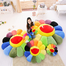 40x40cm Colorful sunflower lie prone to pillow office nap car cushion for leaning on Childrens day gift