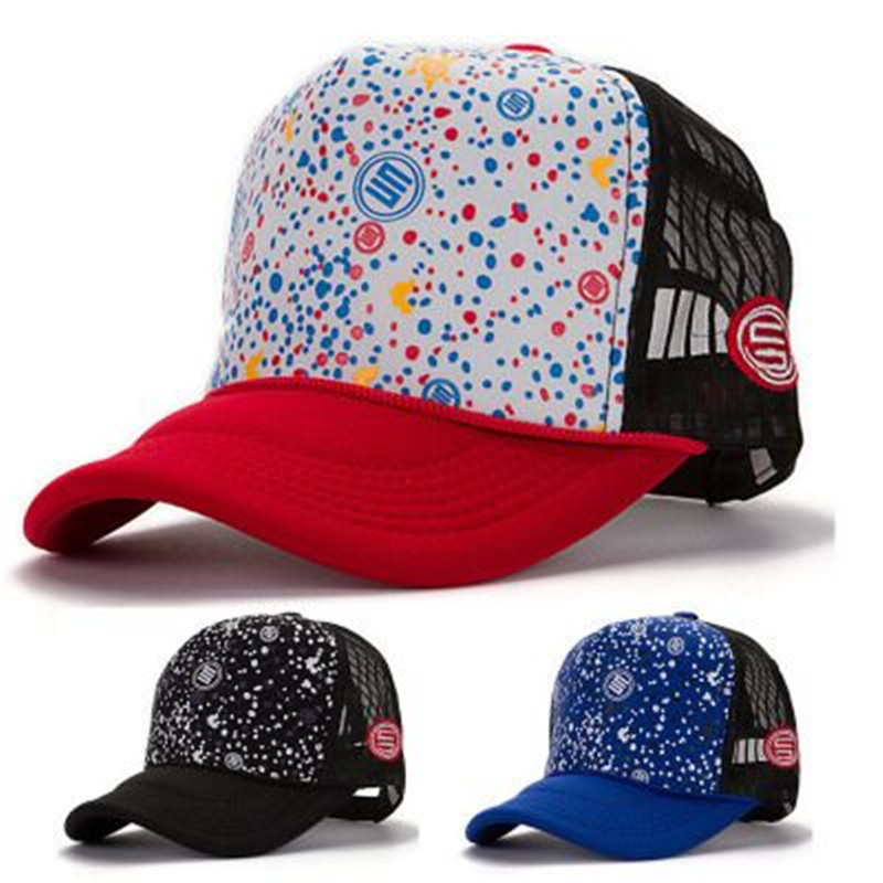 The new design street pig Luo STAGE snow point mesh cap point offset cargo truck baseball cap hip-hop hat summer