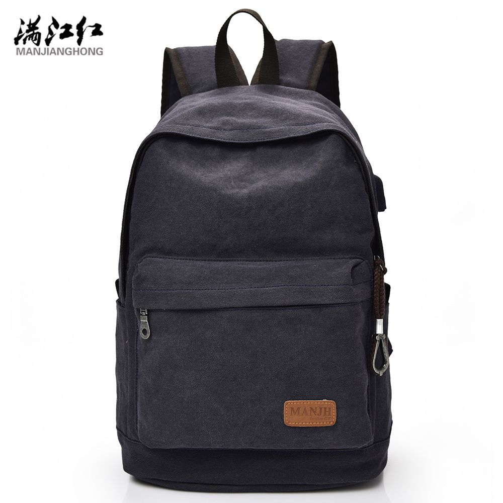 Manjianghong 2016 New Fashion Bag High Quality Fashion Canvas Casual Women Men Backpacks Male