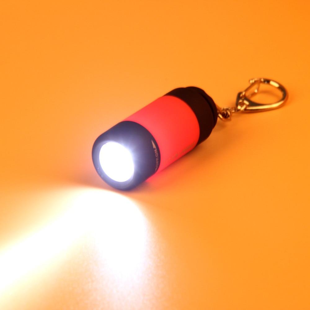 Mini Torcia Torcia 0.3 w 25Lum USB Ricaricabile HA CONDOTTO LA Torcia Della Lampada di Campeggio Esterna di Illuminazione 2018 USB Ricaricabile Della Lampada Della Torcia LED