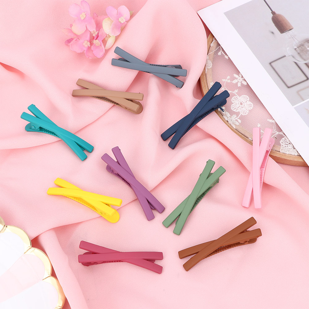 Matte Candy Solid Color Hair Clips Barrettes Girls Cute Hairpins Colorful Hairgrips For Sweet Style Hair Accessories