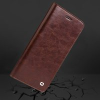 10 Pcs Brown Crazy Horse Classic Series Genuine Cow Leather Flip Type Mobile Phone Case Protective Cover For iPhone7/8