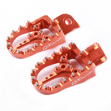Motorcycle CNC orange Billet MX Foot Pegs Rests Pedals Footpegs For SX SX-F EXC EXC-F цена