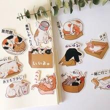 22 adet sevimli kedi çocuk eğlenceli kağıt çıkartmalar ev yapımı muhasebe çıkartmaları dizüstü/dekoratif scrapbooking/kendi başına yap kağıdı