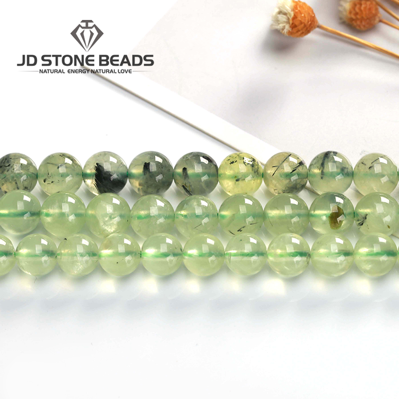 Jewelry & Accessories Knowledgeable Natural Grape Stone Green Prehnites Quartz A+fancy Gemstone 2a 3a 5a Round Loose Beads 4/6/8/10mm 15 Strand For Jewelry Making Online Shop