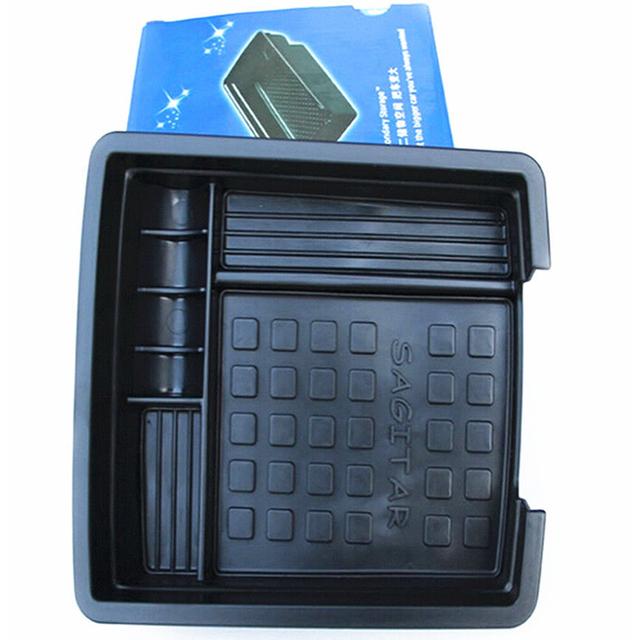 Moonet Preto Car Glove Box Braço Caixa de Armazenamento Organizador Do Carro Para Volkswagen Sagitar 2014 QC260 Secundário