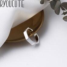 Bijoux damskie nowe sześciokątne pierścienie dla kobiet prezenty Vintage duże regulowane rozmiary pierścionki luksusowa biżuteria