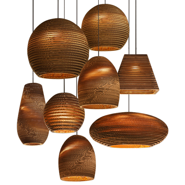 Nordic creative Paper Honeycomb Pendant Lamp Bra Pendant Light Paper Honeycomb Pendant light sitting room dining-room bedroom