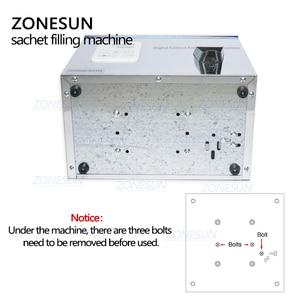 Image 5 - ZONESUN תה מילוי מכונה 1 100g תה במשקל מכונה רפואת תבואה זרעי פירות מלח עצבים מכונת אריזת אבקה מילוי