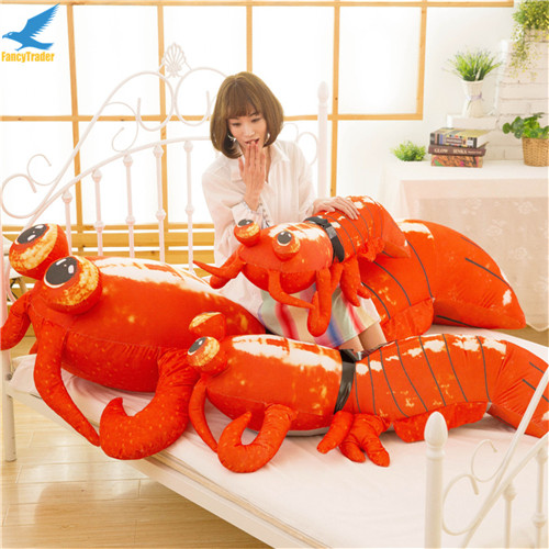 Fancytrader Jumbo Pop Anime Mantis Shrimp Plush Toy Giant Stuffed Soft Simulated Sea Animals Lobster Doll for Adult and Children (7)