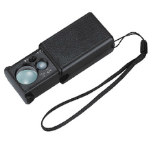 30x 60x checkout LED light source hand-held magnifying glass microscope jewelry