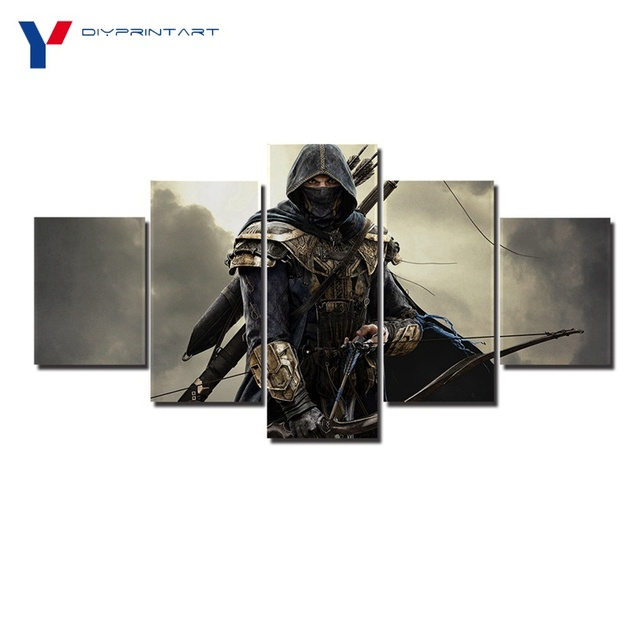 Archer the Elder Scrolls Online 5 Panel Wall Canvas Painting Game ...