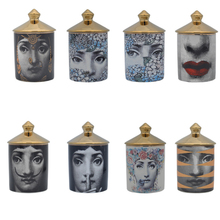 Retro European Fornasetti Candle Holder Ceramic candelabra Lina Face Jewerlly Storage Cans Jars Home Desktop Decoration