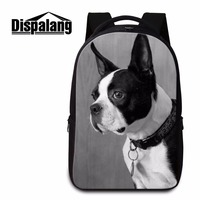 Dispalang trendy teenager boys school backpacks 3D pet dog print laptop school bag pretty style backpack magazine for young men