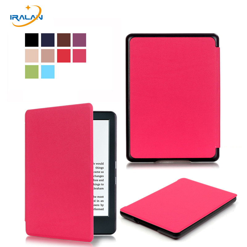 Magnetic case for new kindle 8th generation 2016 6 inch ebook smart sleep PU leather Amazon cover ultra slim thin+film+pen ultra slim ebook case for amazon kindle 8 8th generation 2016 fundas pu leather flip cover cross lines hard shell ereader cases