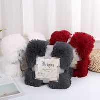 High Quality Velvet Plush Solid Color Blanket Throw Super Soft Long Plush Warm Bed Cover Bedspread Bedding 130*160cm /160*190cm