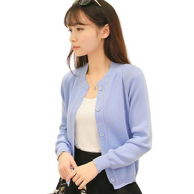 Women Sweater Korean Cardigan 2016 Fashion Spring Autumn Long Sleeve Thin Knitted  Cardigan female Sweaters Free Shipping L759 8e2881c25