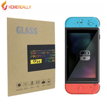 HOMEREALLY Screen Protector For Nintendo Switch Protective Film 9H Premium 2.5D Anti-Explosion For Nintend Switch Tempered Glass недорого