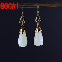 S925 silver jewelry fashionable lady gold earrings with a new certificate