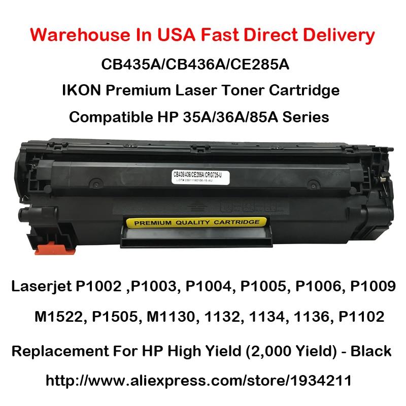 CB435A Toner CB436A CE285A 35A 36A 85A Para HP P1002, P1003, P1004, P1005, P1006, P1009, M1522, P1505, M1130,1132,1134,1136, P1102