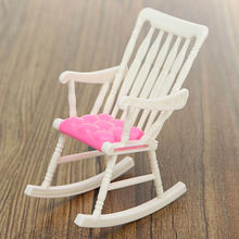 Hot Sale Mini Doll Rocking Chair Accessories For Doll House Room Dollhouse Decoration Rocker Toys Children Kid Girls Toy(China)