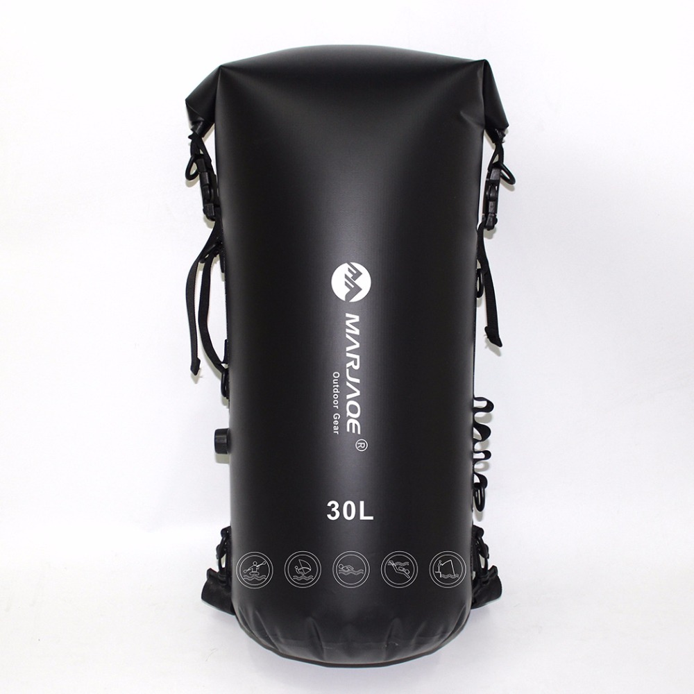 30L Inflatable Waterproof Bags River Trekking Storage Dry Sack Bag For Canoe Kayak Rafting Swimming Surfing Spelunking Backpack 20l 30l river trekking bags waterproof surfing swimming storage dry sack bag pvc pouch boating kayaking canoeing floating