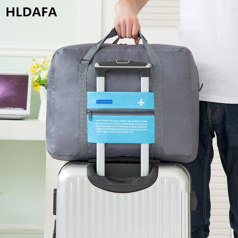 2018 Mode NOUVEAU Voyage Sacs En Nylon Hommes femmes D'affaires voyage sacs à main de cabine bagages Approprié pour avions taille voyage 45 cm sacs