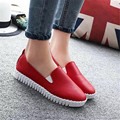 2017 Free shipping  Spring and autumn single female shoes round head loafers flat shoes and casual shoes