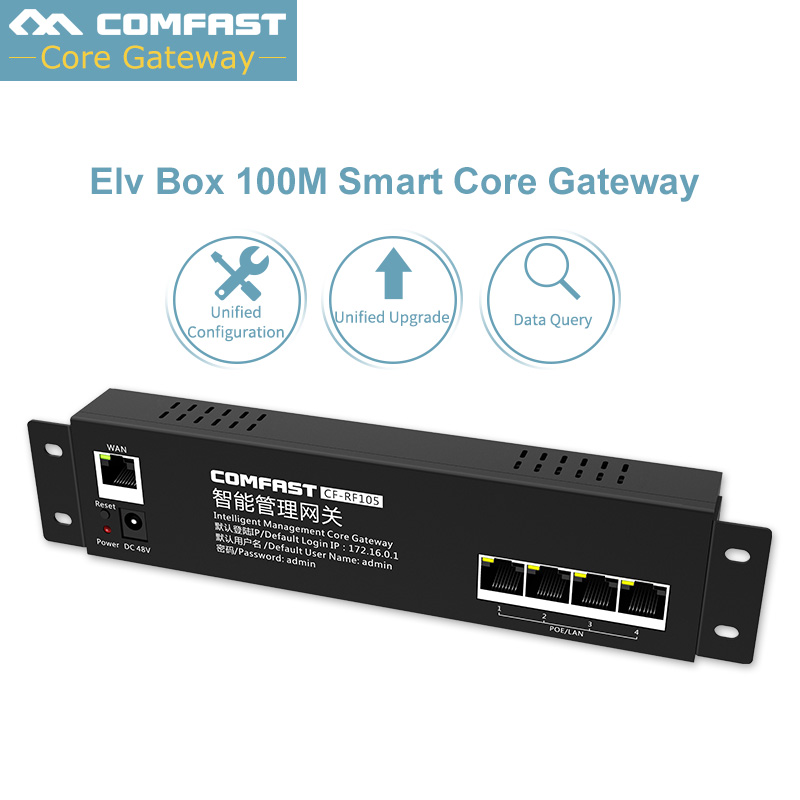 2018 New ~ Comfast AC Wifi Load Balancing Gateway Routing Core Gateway Multi Wan Wi Fi Roaming Access AC Router 650Mhz CPU