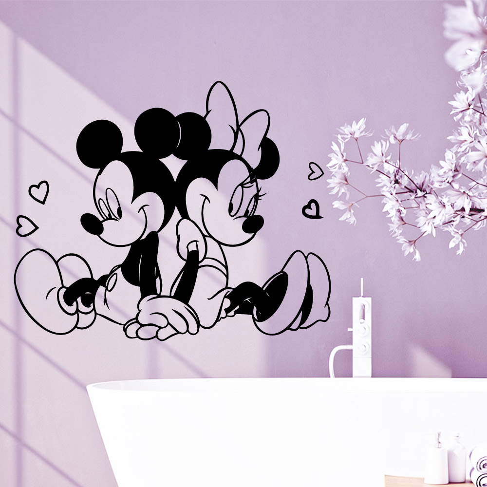 Disney Minnie Mouse Personalized Removable Home decor Wall Sticker 20 polka dot Girls Vinyl Decal D1