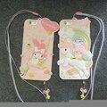 My meloday twinstars silicio 3d case para iphone 6 6 s 6 más 6 splus lindo de la historieta 3d cubierta de gel de goma cubre el envío gratis