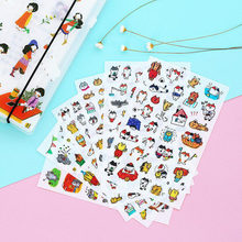 6 Folhas / Lote Cute Kawaii Cartoon Pet Sticker Cute Cat Sticker Paper For Clipping Everyday Kids Children Stationery Stickers(China)