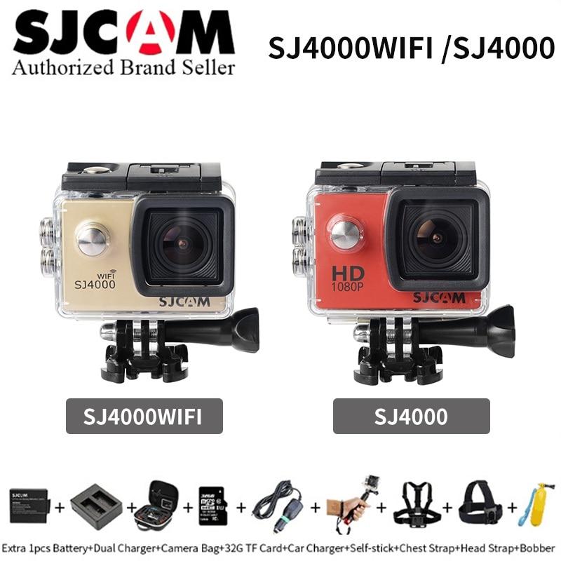 цена на SJCAM series SJ4000&SJ4000wifi Action Camera Diving 30M Waterproof Camera 1080P Full HD Extreme Camcorder Mini sports DV Helmet