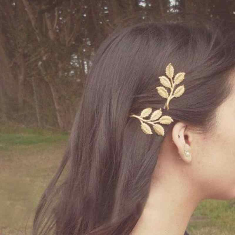 New Fashion Wedding Hair Accessories Olive Branches Leaves Beautiful Bride Hairpin Side Folder Jewelry Hair Pins Hair Jewelry