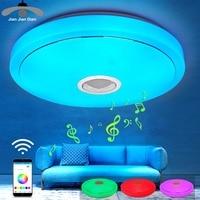 JJD Modern RGB Ceiling Light LED Lamp Panel Round Hall Surface Mount Flush Remote Control Living