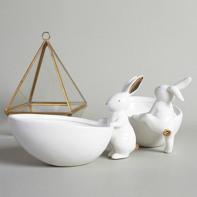 Spielraum Niedlichen Kaninchen Keramik Obst Platte Dekoration ...