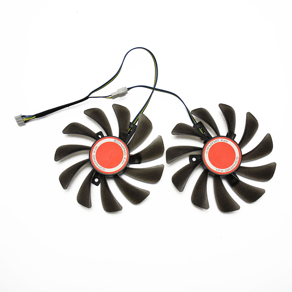 Image 2 - 2PCS/lot 95MM FDC10U12S9 C CF1010U12S Cooler Fan Replace For XFX AMD Radeon RX 580 590 RX580 RX590 Graphics Card Cooling Fan-in Fans & Cooling from Computer & Office