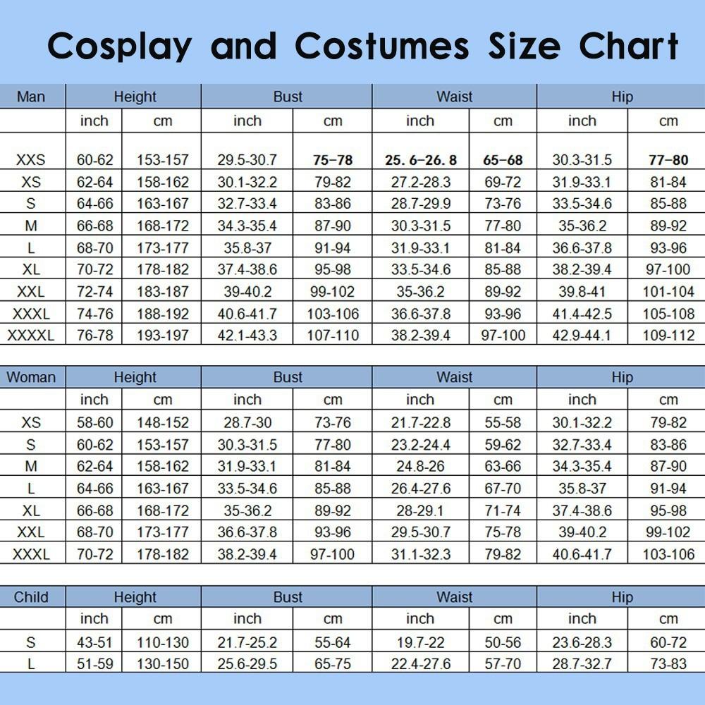 Costuem Size