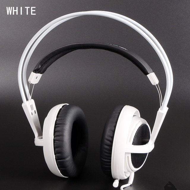 White Color auriculares Steelseries Siberia V2 headphones gameing earphone noise isolating game Headphones for headphone gamer Fast Shipping