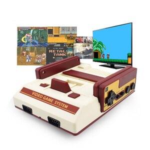 Семейные ТВ портативные игровые консоли, 8-битная видеоигра, встроенный 500 без повторов, игры для детей, мини-игровая консоль