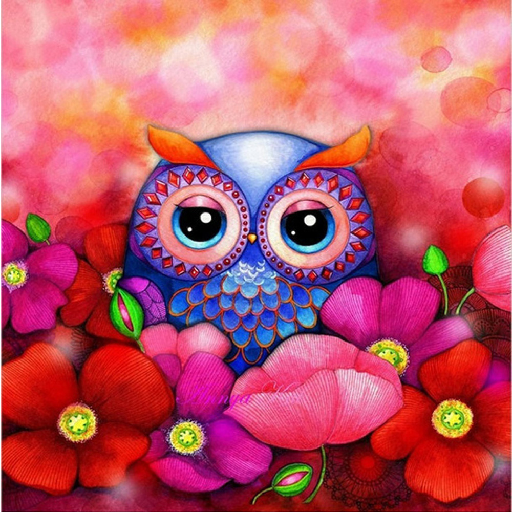 YA ZOOEY NUO Official Store 100% FULL DRILL new needlework diy diamond painting cross stitch embroidery rhinestones gift Wedding decoration animal Owl Y84
