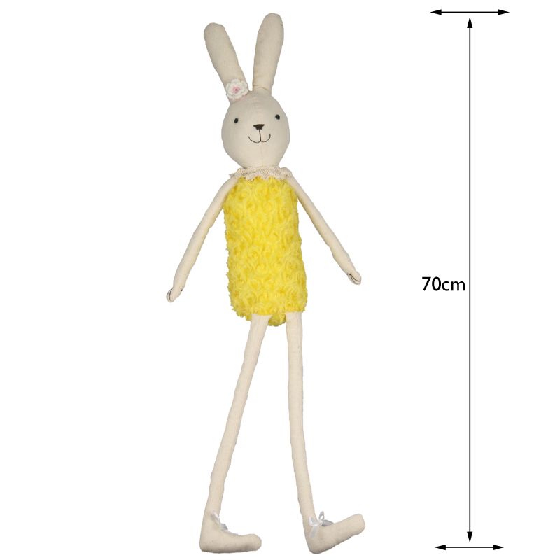 70cm Cute Plush Doll Rabbit Toy Soft Rabbit Easter Bunny Yellow and Pink Rabbit Dolls Animal Doll Children Birthday Gift the flower arranging expert