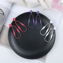 Korean Trendy Matte Paint Simple Geometric Solid Woman Girls Dangle Drop Earrings Fashion Jewelry-LAF