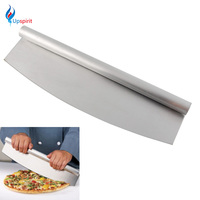 Pizza Baking Tools 14 Professional Pizza Slicer Bakeware Stainless Steel Pizza Cutter Rocker Knife Kitchen Cooking