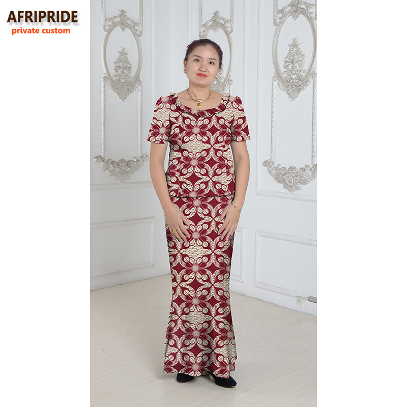 Gaya tradisional Afrika 2 keping skirt ditetapkan untuk wanita - Pakaian kebangsaan - Foto 1