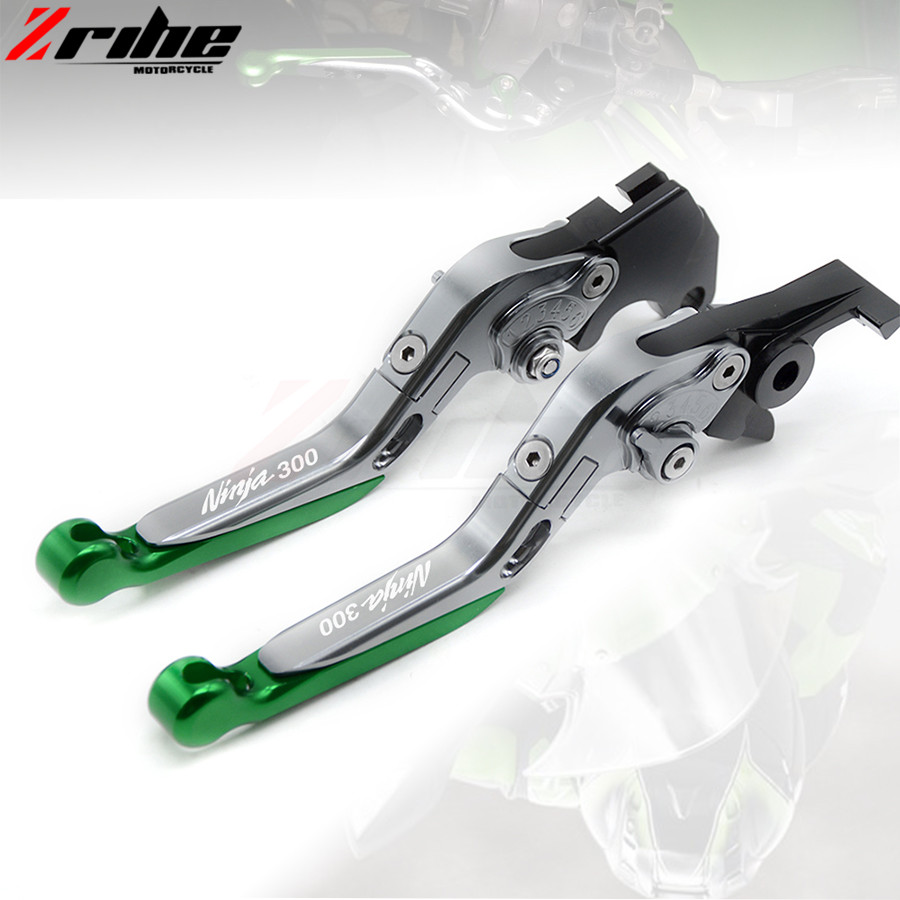 Motorcycle Accessories Adjustable Folding Extendable Brake Clutch Levers CNC  Aluminum For Kawasaki NINJA 300R 2013-2016 2014 20 for ducati multistrada 1200 dvt 2015 motorcycle accessories cnc billet aluminum folding extendable brake clutch levers
